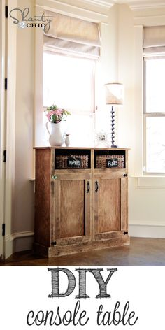 diy console table.