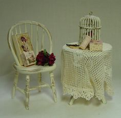 Dolls house Miniature Filled French stylr by uniqueminiatures