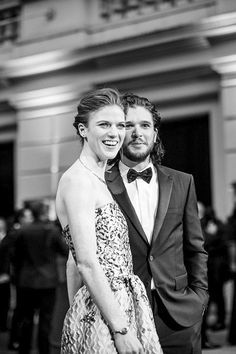 Rose Leslie and Kit Harington on the red carpet for the Olivier Awards 2016 with MasterCard (Photo: David Levene)