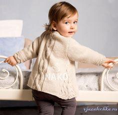 Кофточка для девочки спицами, схема вязания