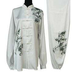 Long Sleeves Bamboo Embroidery Tai Chi Chuan Tai Chi Pants Tai Chi Outfit rental set traditional buy purchase on sale shop supplies supply sets equipemnt equipments Tai Chi Clothing, Couture Sewing, Best Cosplay, Duster Coat, Celebs, China, Martial Arts, Fantasy Outfits, Long Sleeve