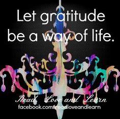 Gratitude quote via www.Facebook.com/ReadLoveAndLearn