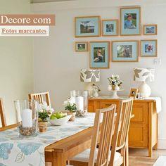 sala de jantar com fotos