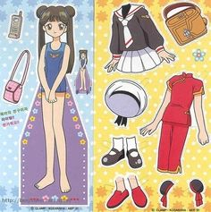 종이인형 (카드캡터체리) : 네이버 블로그 * Google for Pinterest pals1500 free paper dolls at Arielle Gabriels The International Paper Doll Society also Google free paper dolls at The China Adventures of Arielle Gabriel *