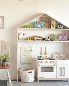 Playroom Storage, Playroom Decor, Playroom Ideas, House Shelves, Low Shelves, Ikea Toddler Room, Kids Room, Goose House, Play Corner