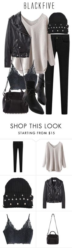 """blkfv .26"" by florencia95 ❤ liked on Polyvore featuring Acne Studios, Alexander Wang and blk2015"