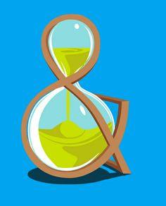 Hourglass Ampersand Vector Illustration by Tim Phelan