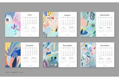 Ad: 2018 CALENDARS set by Lera Efremova on Artistic unique collection. 10 different ART calendars. Desk calendar, calendar planner, wall calendar, pocket calendar with abstract Graphic Design Calendar, Wall Calendar Design, Art Calendar, Desk Calendars, Graphic Design Layouts, Graphic Design Illustration, Printable Calendars, Layout Design, Design Ideas