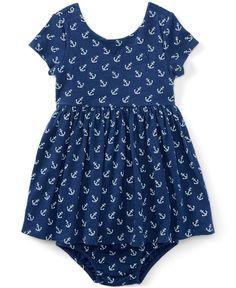 Ralph Lauren Baby Girls' Nautical-Print Dress