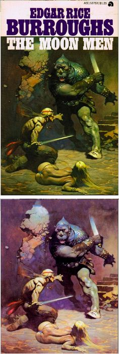 Edgar Rice Burroughs Web Museum and Weekly Online Fanzine Frank Frazetta, Book Cover Art, Book Art, Book Covers, Comic Books Art, Comic Art, Ace Books, Graphic Novel Art, Pin Up