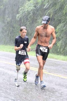 Ben Baltz and his father JC Baltz running in the Freedom Springs Triathlon in July Note: This is the photo Ben's sister, Rachel, submitted to the Runner's World cover contest. Fitness Workouts, Fitness Motivation, Fitness Gym, Sport Fitness, Running Motivation, Running Workouts, Daily Motivation, Body Fitness, Fitness Women