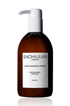"""76 Hair Products These Beauty Editors Swear By #refinery29  http://www.refinery29.com/beauty-editor-hair-care-tips#slide-9  """"The process begins in the shower when I wear my hair curly, which I do once or twice a week. I cleanse and condition with Sachajuan's Cleansing Cream. I love that it makes my scalp feel clean, but not stripped.""""Sachajuan Hair Cleansing Cream, $42, available at Bar..."""