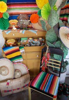 Cinco de Mayo decor.  I like the chair.