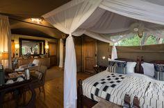 Luxurious and stylish Little Vumbura guest tent interior