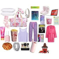 The Ultimate Sleepover/Movie night guide to girls essentials! by kaitlinwebb on Polyvore featuring beauty, ASOS, Essie, Wildfox, Monki, Cyberjammies, Fountain, Skinnydip, Beats by Dr. Dre and Polaroid