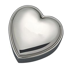 Heart Shaped Nickel 3 x 3 Jewelry Box ** This is an Amazon Affiliate link. You can find more details by visiting the image link.
