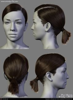 Draw Hairstyles 2012 Hairstyles 02 by (Woody) Dani Garcia Balage Hair, One Hair, Loose Hairstyles, Pretty Hairstyles, Drawing Hairstyles, Zbrush Hair, Really Curly Hair, Human Figure Drawing, Hair Reference