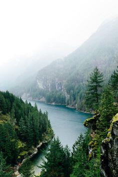 moody-nature:  North Cascades and Diablo Lake | By Jonathan...