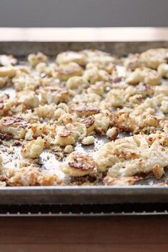 """Roast Cauliflower """"Snowflakes"""" With Breadcrumbs and Parmesan"""