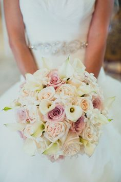Blush and ivory  Wedding Bouquet