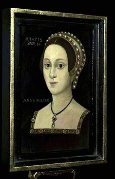 """Is this Anne Boleyn at age 14, stopping off at home on her way to serve Princess Mary Tudor as queen of France, and showing off her French finery? Or is this another version of the """"French Hood"""" pattern portrait? Or is it an overpainted original or an overpainted portrait of someone else entirely? Whatever the answer is, it's about the most exciting thing to happen in the field of Anne Boleyn in a good while."""