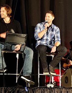 The boys looked ridiculously gorgeous today, guys. Seriously. #njcon @jarpad @JensenAckles