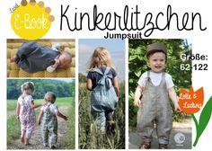 """Nähanleitungen Kind - E-Book Jumpsuit """"Kinkerlitzchen"""" Größe 62-122 - ein Designerstück von Lotte-und-Ludwig bei DaWanda"""