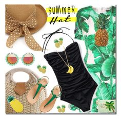 """Summer hat"" by anne-irene ❤ liked on Polyvore featuring Dolce&Gabbana, Miss Selfridge, Rad+Refined, H&M, Kate Spade and summerhat"