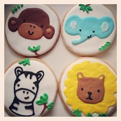 Safari cookies for baby shower