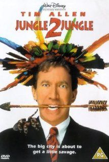 "Jungle 2 Jungle-  ""Michael Cromwell, a New-Yorker, suddenly learns that he has a 13-year old son that's been raised in the jungle. He brings the boy to New York, and that's where the fun starts..."""