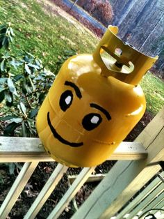 Lego Head propane tank mod