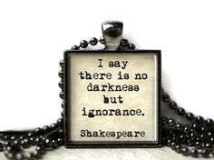 Shakespeare quote resin necklace or keychain word by WordBaubles, $15.00