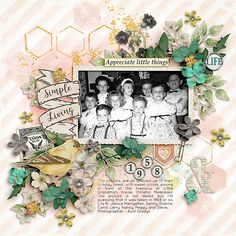 1957 cousins  by Iowan using digital scrapbooking products from the Lilypad