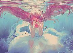 underwater with jellyfish