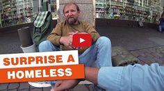 Three German students surprise a homeless guy – Inspiring Video
