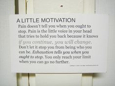 A little motivation...