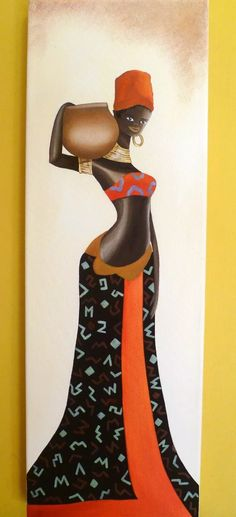 cuadros tripticos polípticos africanas, modernos African Art Paintings, African Crafts, Wall Art Wallpaper, Black Art Pictures, African Sculptures, Africa Art, Black Artwork, Black Women Art, African American Art