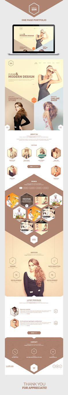 Hexagon - One Page Portfolio