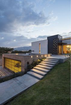 design exterior images Striking modern dwelling in Ecuador: House House is a modern single family residence completed in 2012 by Roberto Burneo Arquitectos, located in Balcon de Valle, Quito Canton, Ecuador. Architecture Design, Residential Architecture, Amazing Architecture, Contemporary Architecture, Building Architecture, Modern Contemporary, Installation Architecture, Minimal Architecture, Contemporary Building