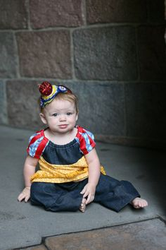 snow white inspired peasant dress and ruffle pants
