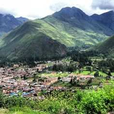 Beautiful Urubamba, Peru! I can see the place where we stayed in this picture