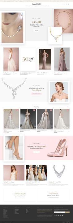Magento Template , Grand Bridal - Bridal Store
