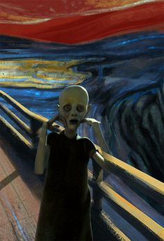 the-scream-edvard-munch / this is art at its finest.