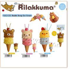 San-X Rilakkuma Double Scoop Ice Cream Squishy