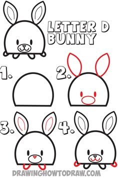 7 letter words for draw something easy to draw letter g shaped bunny rabbits drawing with 25206
