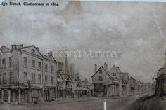 Cheltenham High Street 1804. Now known as 'Cobblers Corner' opposite 'Boots (Chemists) Corner'. *************************************** Brix and Mortimer | Cheltenham Estate Agents | Period Pictures Collection | ☎ 01242 898 746
