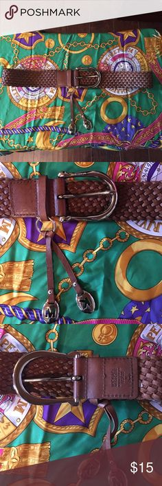 MICHAEL Michael Kors Belt MICHAEL Michael Kors Leather Belt. Size Medium. Brown Leather with Silver Hardware. Leather part of belt measures approximately 40 inches in length. In good preowned condition. Please ask all questions prior to making an offer or purchase. Thanks for looking! MICHAEL Michael Kors Accessories Belts