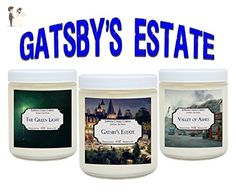 Book Candles - Gatsby's Estate - Soy Candle Set Includes: The Green Light, Gatsby's Estate, Valley of Ashes – 3 x 4 ounce Candle Gift For Book Nerds - Venue and reception decor (*Amazon Partner-Link)