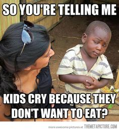 Third World Kid can't comprehend…