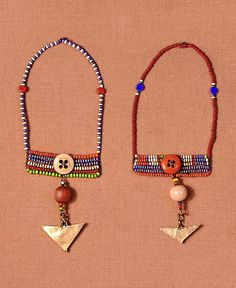 maasai earrings. kenya.